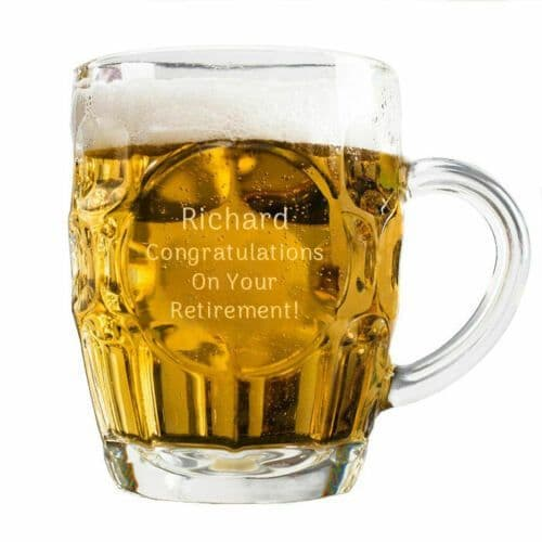 Pint Dimple Glass Tankard Personalised