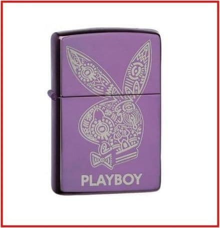 Playboy Abyss Purple Bunny Zippo Lighter Personalised