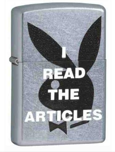 Playboy I Read The Articles Zippo Lighter Personalised