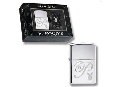 Playboy Zippo Lighter and Label Pin Set Personalised