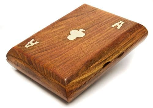 Playing Cards In Rosewood Box Personalised