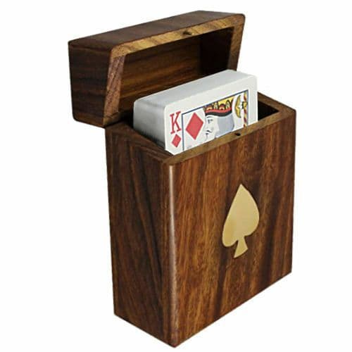 Playing Cards in Wooden Storage Box Personalised