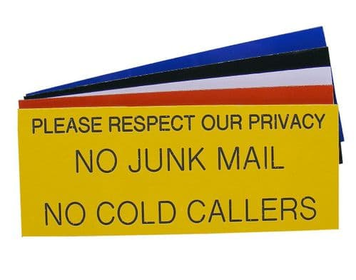 Please Respect Our Privacy  Sign 125 x 50mm
