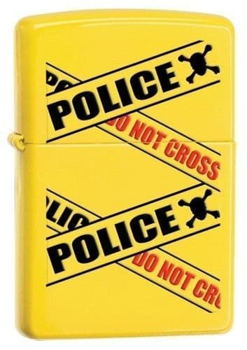 Police Caution Lemon Zippo Lighter Personalised