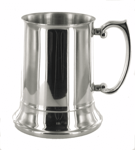 Polished 1 Pint Stainless Steel Tankard Personalised | County Engraving