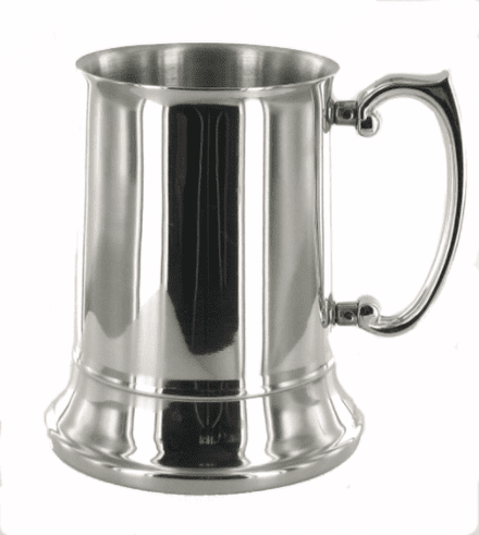Polished 1 Pint Stainless Steel Tankard Personalised