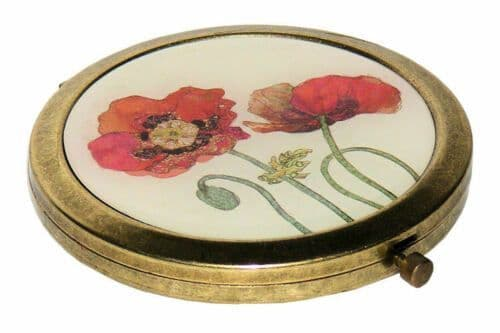 Poppy Design Compact Mirror  Personalised