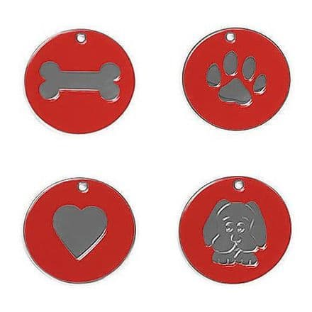 Red Nickel Tags
