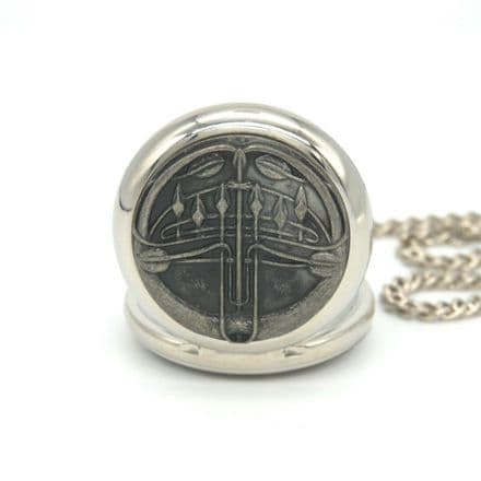 Rennie Mackintosh Design Pewter Pocket Watch Personalised