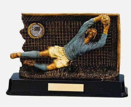 Resin Goal Keeper Football Trophy