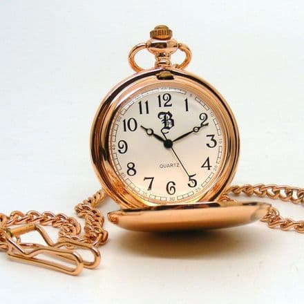 Rose Gold Coloured Pocket Watch Personalised
