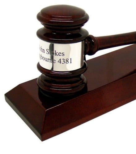 Rosewood Hammer & Gavel Personalised