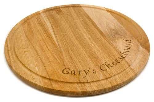 Round Beech Wood Cheese Board Personalised