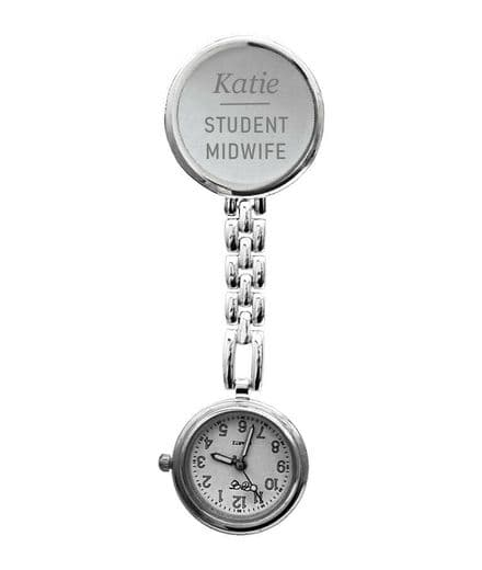 Round Fob Watch Personalised