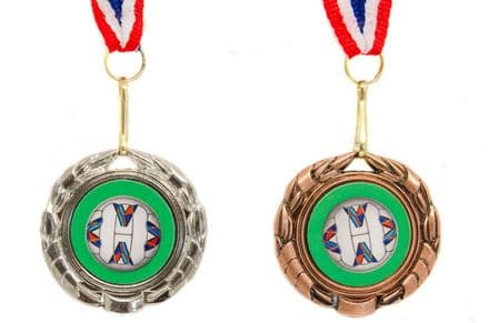 Round Wreath Medal with Choice of Sport Centre