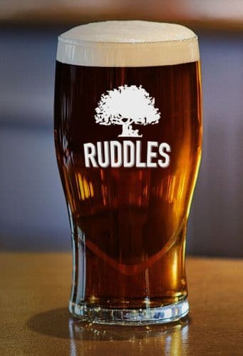 Ruddles Beer Pint Glass Pint Glass Personalised