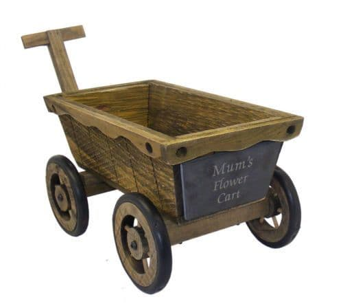 Rustic Wooden Flower Cart Planter Personalised
