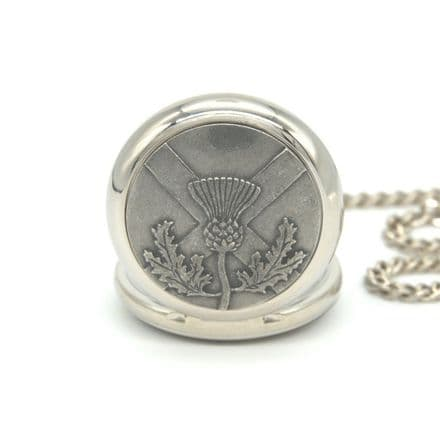 Scottish Thistle Pocket Watches Personalised