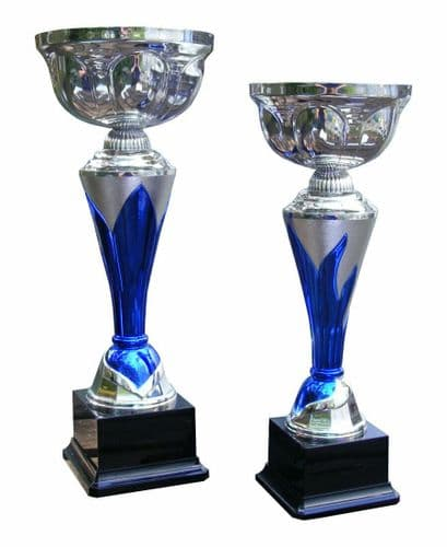 Silver And Blue Trophy Cup