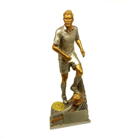 Silver and Gold Male Football Player Award Personalised