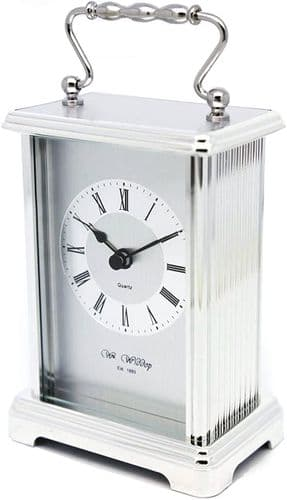 Silver Carriage Clock Personalised