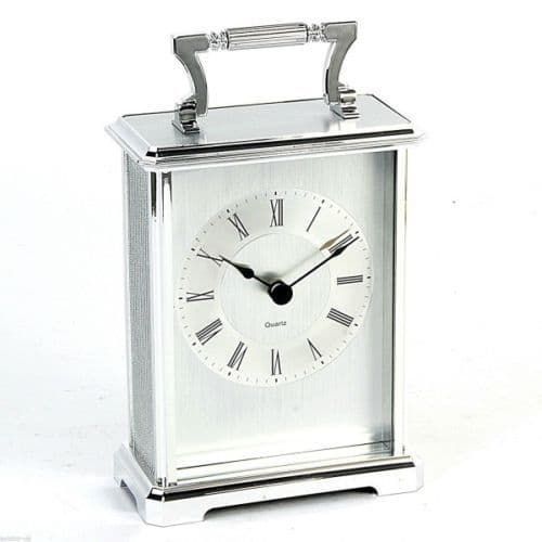 Silver Mantle Carriage Clock Personalised