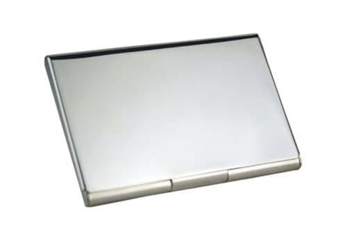Silver Plated Business or Credit Card Case Personalised