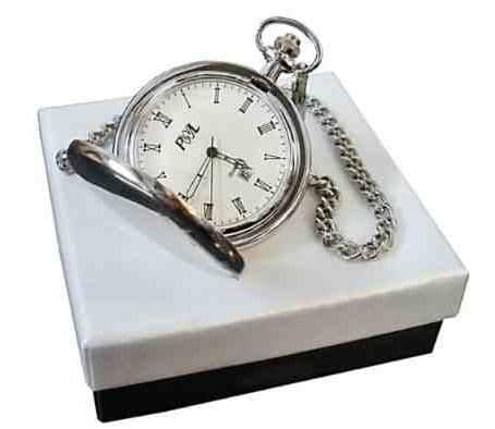 Silver Plated Date and Time Pocket Watch Personalised