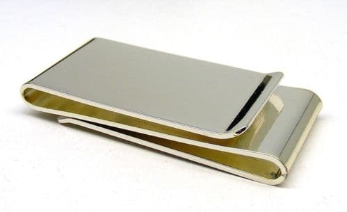Silver Plated Double Sided Money Clip Personalised
