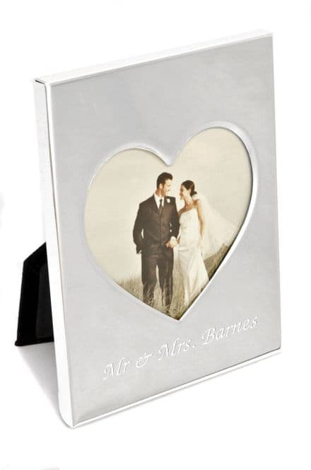 Silver Plated Heart Appenditure Photo Frame Personalised
