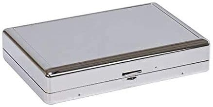 Silver Plated Playing Card Box and Cards Personalised