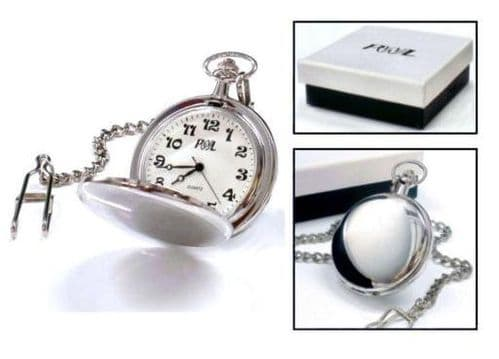 Silver Plated Pocket Watch Personalised