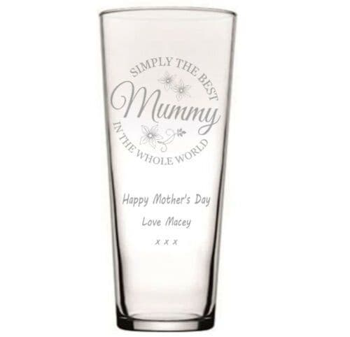 Simply the Best Conical Glass Flower Vase  Personalised