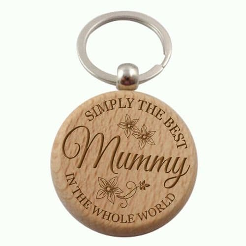 Simply The Best Keyring Personalisesd