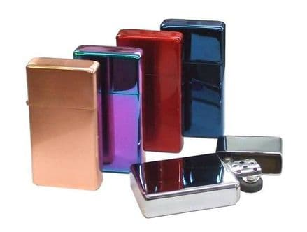 Slim Petrol Lighter and Tin