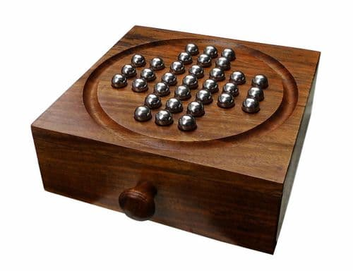 Solitaire Traditional Wooden Game Set Personalised