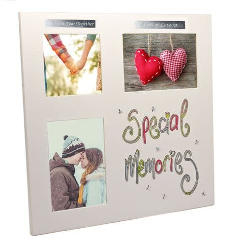 Special Memories Three Aperture White Photo Frame Personalised