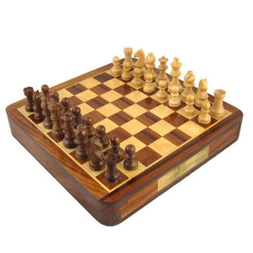 Square Wooden Chess Set Personalised