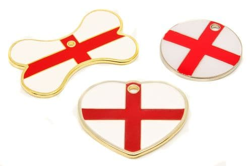 St Georges Cross Flag Tags