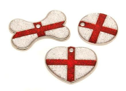 St Georges Cross Glitter Flag Tags