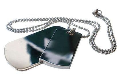 Stainless Steel Double Army Tags Personalised