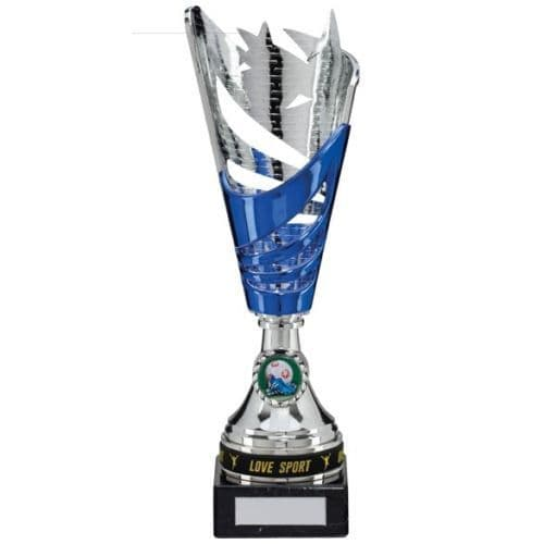 Star Silver and Blue Multi Sport Cup