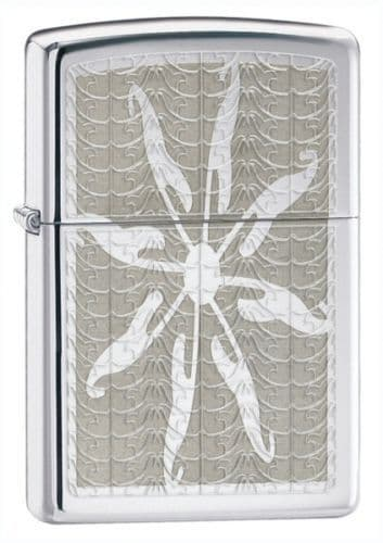 Starfish High Polish Chrome Zippo Lighter Personalised
