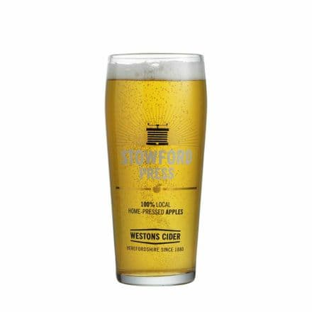 Stowford Press Cider Glass Personalised