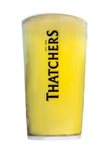 Thatchers Branded Glass Personalised