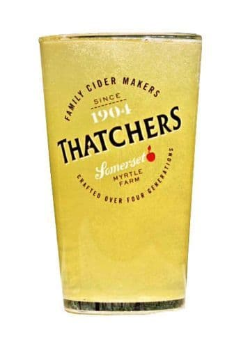 Thatchers Cider Glass Personalised