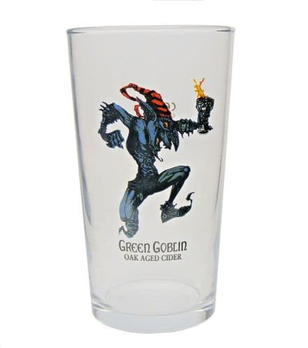 Thatchers Green Goblin Oak Aged Cider Glass Personalised