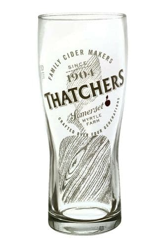 Thatchers Tall Pint Cider Glass Personalised