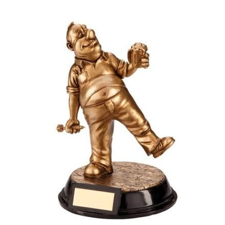 The Outrageous Beer Belly Darts Trophy Personalised