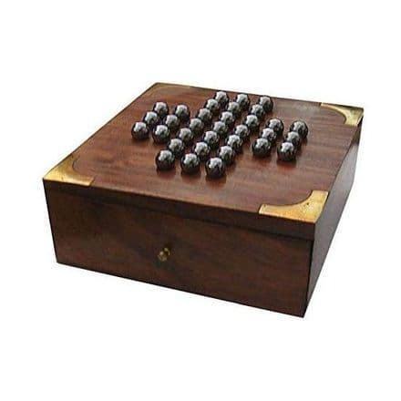 Traditional Solitaire Wooden Game Set Personalised